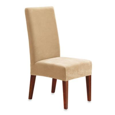sure fit stretch pique short dining chair slipcover buy dining room chair covers from bed bath beyond