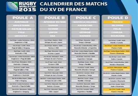 Calendrier Du Xv De T 233 L 233 Charger Calendrier Du Xv De Pour La Coupe Du