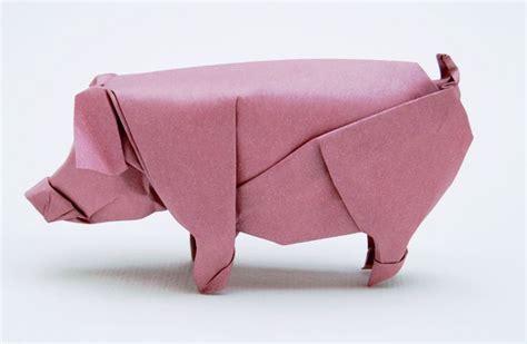 Origami Pig - origami pig paper