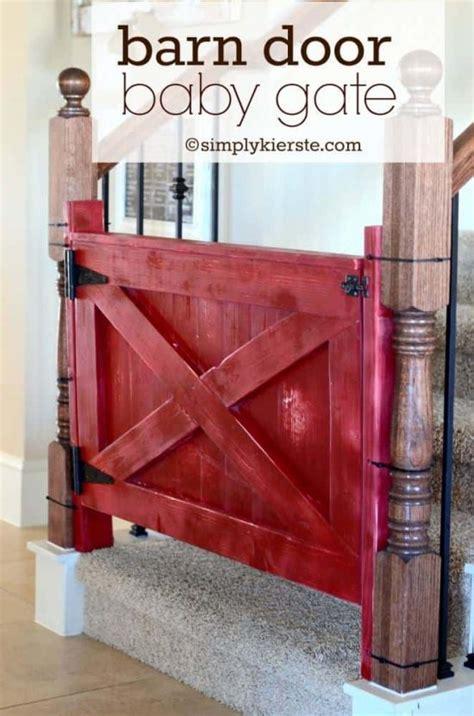 baby gate barn door tutorial