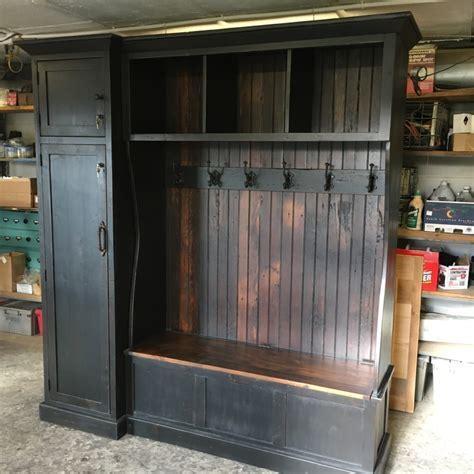 hall tree  side gun cabinet furniture   barn