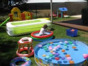 backyard ideas for toddlers back yard water park learning 4