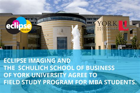 Schulich Mba Bursary by Eclipse Imaging And York U S Schulich School Of Business