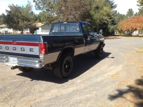 Oregon Jeep Clubs Sell Used 1992 Dodge Ram D250 4x4 Club Cab 5 Speed In