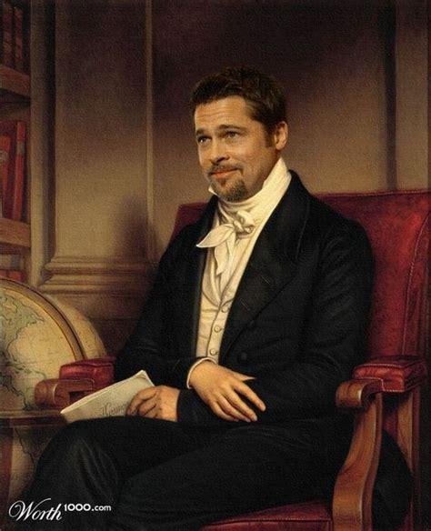 Brad Pitt Minnie Driver Personaggi Famosi Diventano Dipinti Rinascimentali Tissy