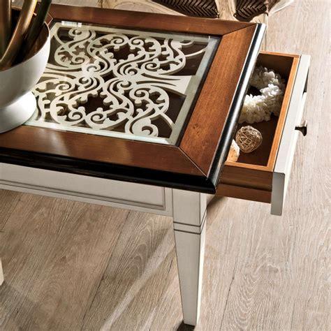 tavolo con cassetto tavolino con cassetto e traforo