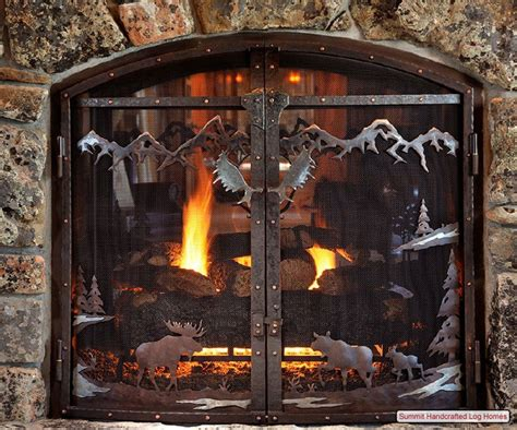 Rustic Fireplace Screen by 17 Best Images About Fireplace Screens For The Cabin On