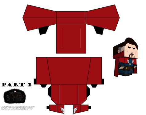 Marvel Papercraft - doctor strange marvel cubeecraft part 2 by jagamen