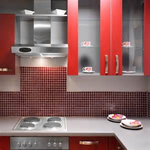 red tile backsplash house pinterest
