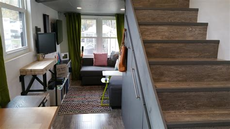 Small House For Rent Columbus Ohio 48k Tiny House Comes With Sleek Storage Security System
