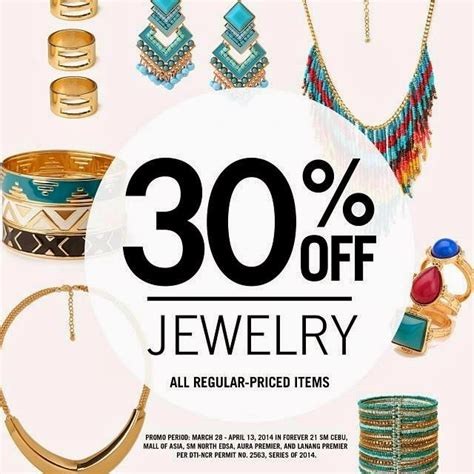 discount for jewelry forever 21 jewelry discount on march 28 to april 13 2014
