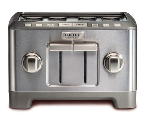 wolf gourmet as30ki 1 stainless wolf gourmet stainless steel 4 slice toaster wgtr124s