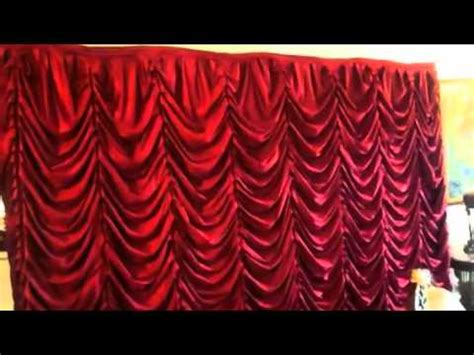 how to make festoon curtains pop up back drop austrian curtains by saaria theater