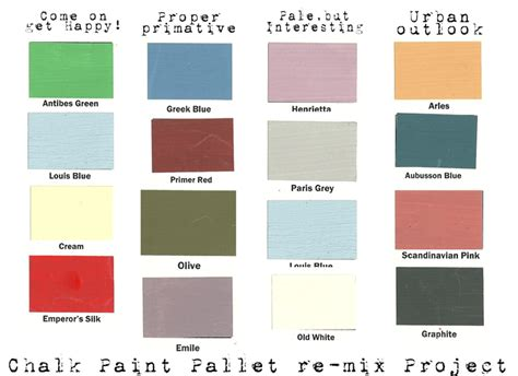 folk paint color chart ideas folk chalk paint search painted furniture domestic