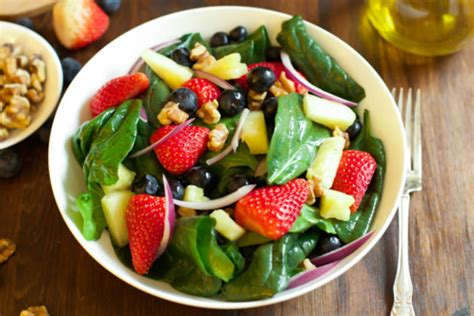 superfoods salads in a jar 75 easy gluten free low cholesterol whole foods recipes of antioxidants phytochemicals volume 6 books spinach fruit salad recipe food fanatic