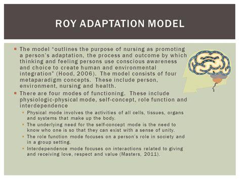 Roy S Adaptation Model callista roy roy adaptation model ppt