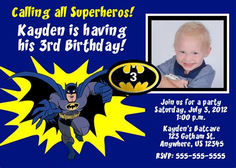batman invitation card template batman birthday invitations templates ideas batman and