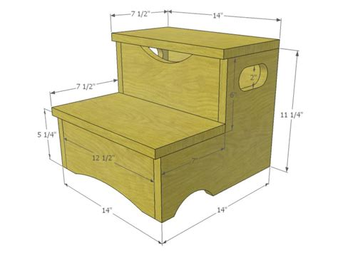 Step Stool Plans Free by Woodworking Project How To Build A Storage Step Stool For