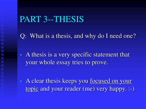 clear thesis ppt 5 paragraph essay powerpoint presentation id 354328