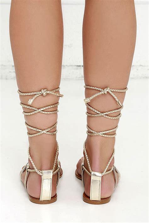 steve madden werkit gold suede sandals leg wrap sandals 59 00