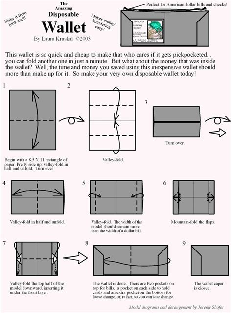 How To Fold A Paper Wallet - best 25 origami wallet ideas on diy origami