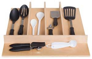 century components wood utensil tray drawer organizer