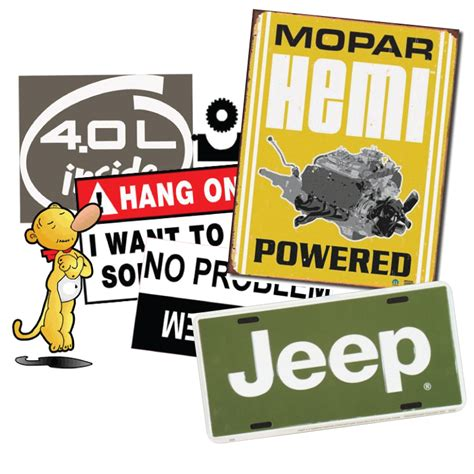 jeep stickers for all things jeep jeep signs stickers