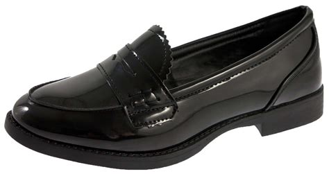 slip on shoes for school slip on loafers faux leather school shoes womens
