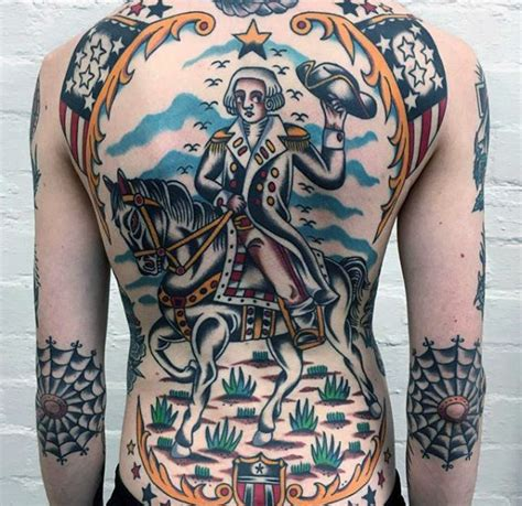 george washington tattoo 50 traditional back design ideas for