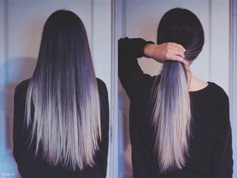 dip dyed long hair