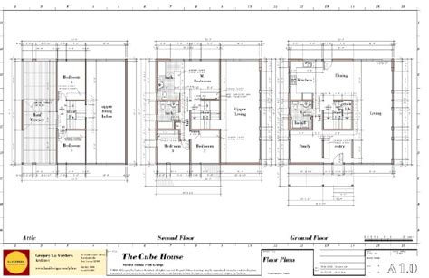 cube house design layout plan modern house plans by gregory la vardera architect cube