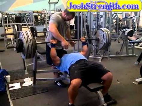 paused bench press jeremy hoornstra 540 x 3 paused bench press youtube