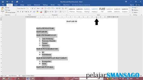 latar belakang membuat lu otomatis tutorial membuat titik titik otomatis di daftar isi ms