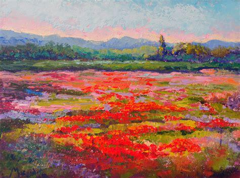 impressionist landscape painting palette knife painters impressionist floral landscape