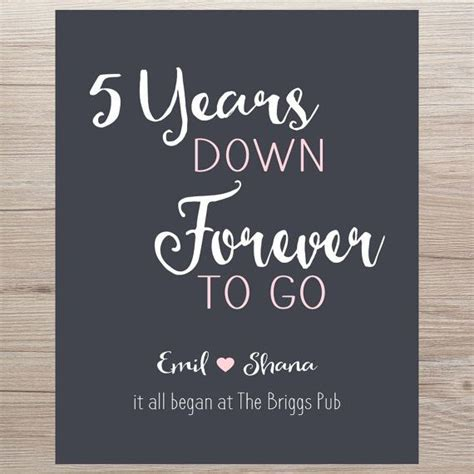 gift for 5 year the 25 best 5 year anniversary quotes ideas on