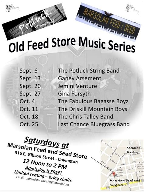 old feed store music series returns to marsolan s feed seed