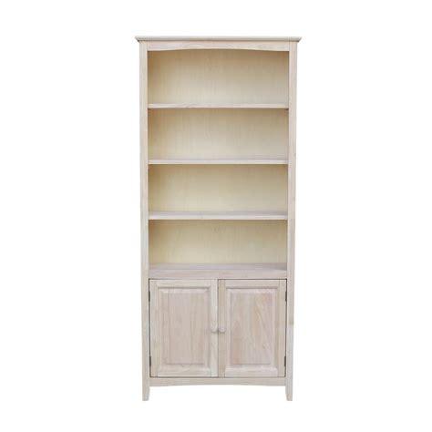 international concepts unfinished shaker bookcase