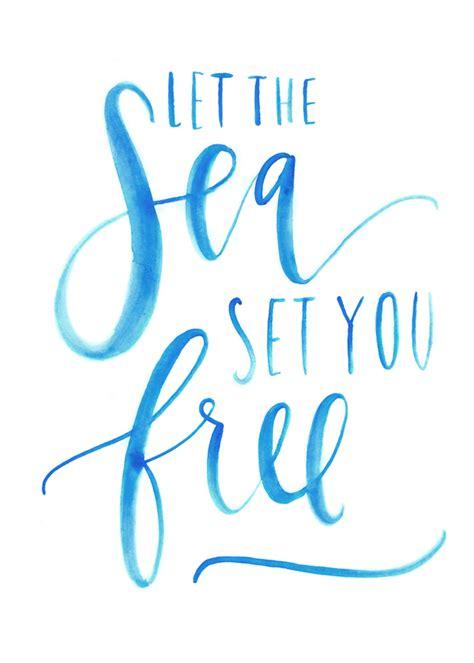 printable beach quotes let the sea set you free printable a fabulous fete