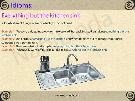 Everything Kitchen Sink 453 Best Images About Idioms On Language And Its Meaning