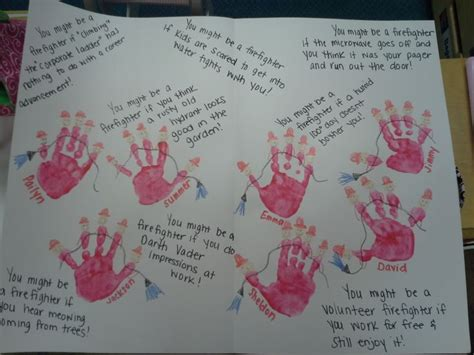 Thank You Letter To Preschool Community Helpers Unit Thank You Note For Firefighters