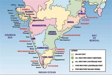 In Thailand For Indian Mba by Indian Ports Map My