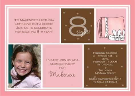 8th birthday invitation templates 8th birthday invitation wording dolanpedia
