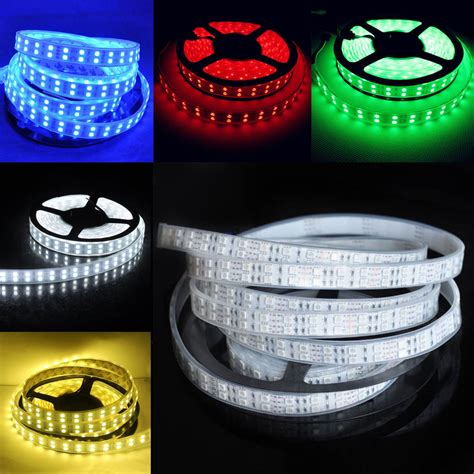 5m 600 leds 3528 5050 double row rgb warm cool white