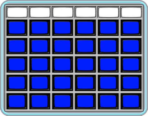jeopardy board template blank jeopardy board 1985 by wheelgenius on deviantart