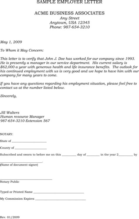 sle employment verification letter for free formtemplate