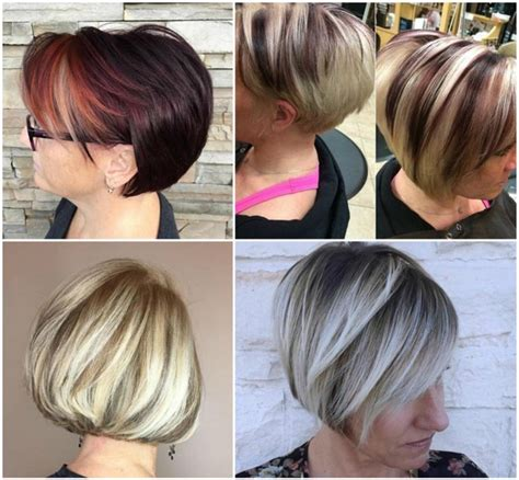 hair color highlights short hairstyles  women