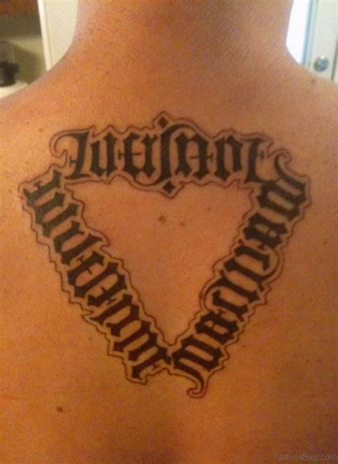 ambigram tattoos 51 ambigram tattoos on back