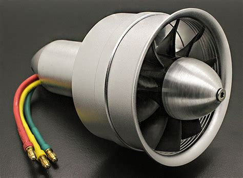 electric ducted fan jets rc plane alloy dps 64mm 10 blade electric ducted fan assembley