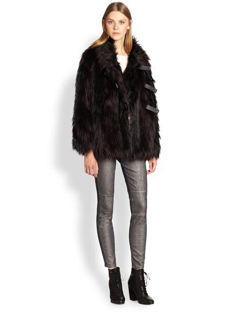 Marc by marc jacobs Lex Faux Fur Jacket in Black   Lyst
