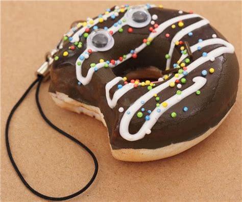 Toys Donuts Whitesugar chocolate saucer donut bite squishy cellphone